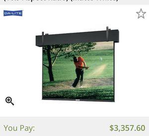 Da-Lite Motorized Projector Screen for Sale in Davenport, FL