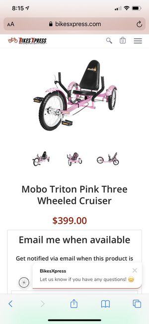 Brand New Mobo Triton Pink Three Wheeled Cruiser for Sale in Fort Washington, MD