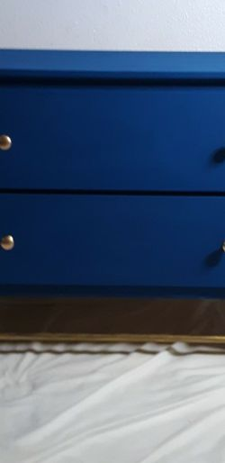 Royal Blue And Gold Dresser for Sale in Kent,  WA