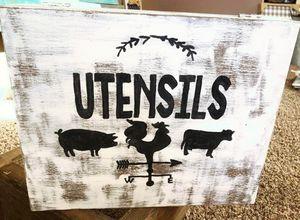 Farmhouse utensil box for Sale in Wildomar, CA