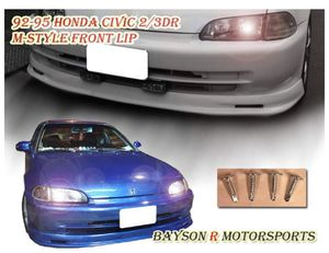 MU STYLE FRONT LIP FOR 1992-1995 HONDA CIVIC 2DR / 3DR FLIP-PU-C9295-3DR-MU for Sale in Fresno, CA