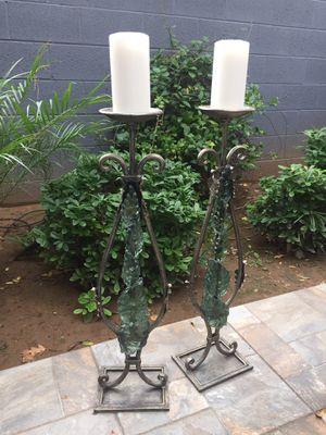 Italian Candlestick Holders Metal & Resin Handmade for Sale in Phoenix, AZ
