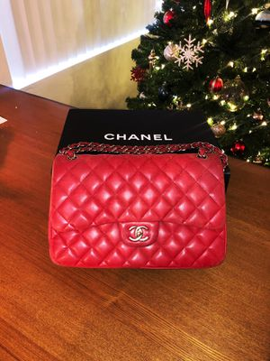 Crimson Red Chanel Classic Jumbo Double Flap Bag 2017 for Sale in Los Angeles, CA