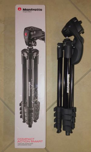Manfrotto 60 inches tall compact action tripod photography camera camcorder stand black color for Sale in Los Angeles, CA