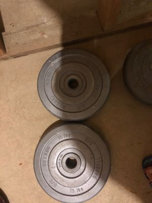 Billiard barbell weight plates for Sale in Carol Stream, IL