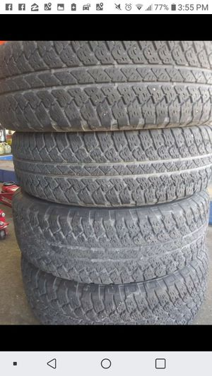 Bridgestone 255-70-18 AT 4 PLY USED TIRES for Sale in Poteau, OK