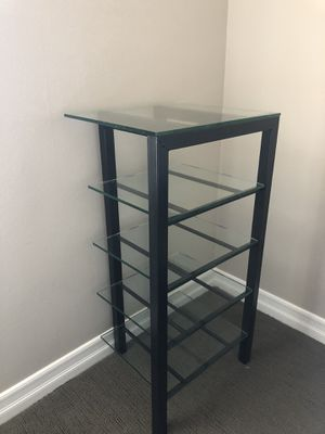 Modern glass / black metal shelf for Sale in San Juan Capistrano, CA