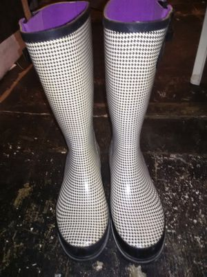Stone Creek, checker rain boots for Sale in Arlington, TX