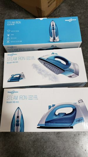 Brand new $15 each steam iron clothes iron self clean anti drip electric iron for Sale in Whittier, CA