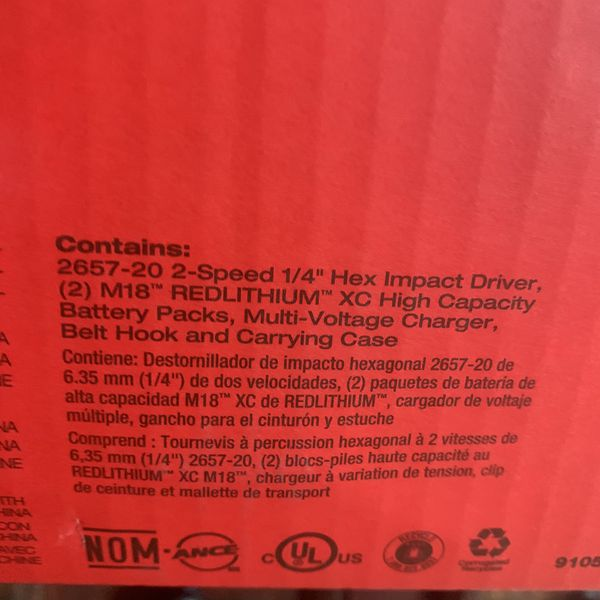 Brand new Milwaukee 2657-22 M18 KIT ONLY ($190)