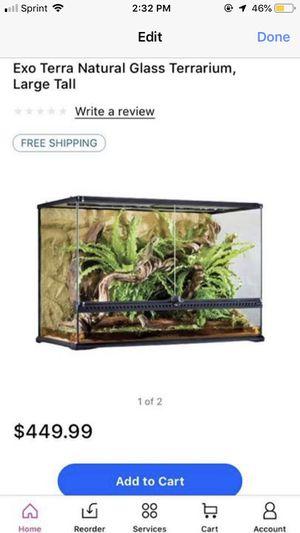 Exoterra reptile tank for Sale in Laredo, TX