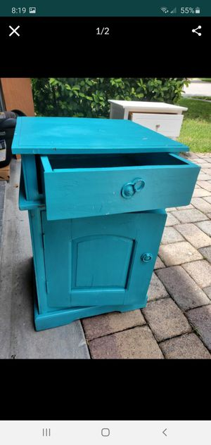 Blue ocean theme rustic style night stand for Sale in Orlando, FL