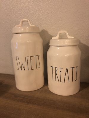 Rae Dunn OG Skinny Sweets and Treats Canisters for Sale in Puyallup, WA