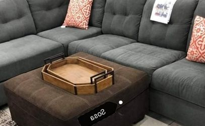 🌩️Fast Delivery SPECIAL] Maier Charcoal RAF Sectional by Ashley 🌺Brand New for Sale in Washington,  DC