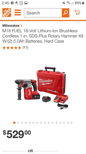 Milwaukee rotary hammer drill with battery and charger for Sale in Grand Bay, AL
