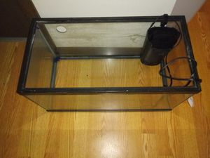 Fish tank and filter for Sale in Pittsburgh, PA