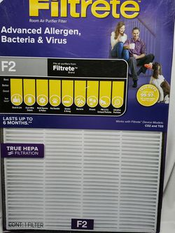 3M Filtrete F2 air purifier filter for Sale in Zanesville,  OH