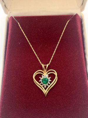 10k emerald necklace for Sale in Alexandria, VA