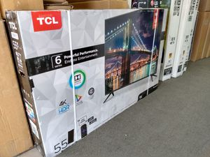 """55"""" TCL 6 series 4k UHD Smart Roku HDR LED Tv for Sale in Lincoln Acres, CA"""