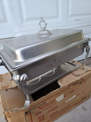 Stainless steel food warmer new never use $65 for Sale in Las Vegas, NV