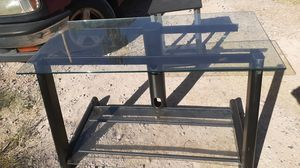 TV stand with 2 glass shelves for Sale in Las Vegas, NV