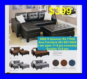 sectional sofa + ottoman for Sale in Houston, TX