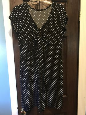 Casual summer black with white polka dot dress Nice for summer Sz 10 for Sale in Sicklerville, NJ