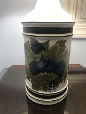 Vintage 1960's Porcelain Blueberry lamp for Sale in Corona, CA