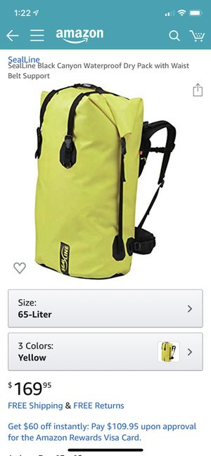 SealLine 65L Dry Bag, Brand New Still In Package for Sale in Hillsboro, OR