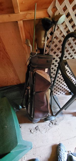 Golf clubs and self standing bag for Sale in Kensington, MD
