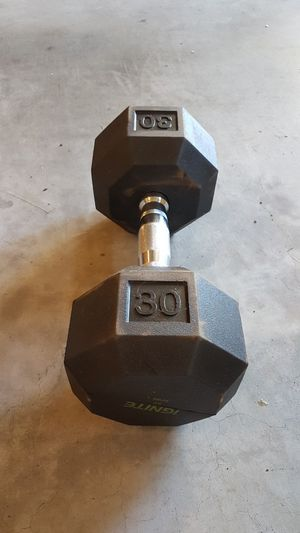 Single coated 30lb Hex dumbbell for Sale in Lynnwood, WA