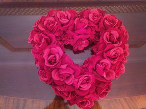 Heart wreath; Valentine's Day or year round decor. for Sale in Darien, IL