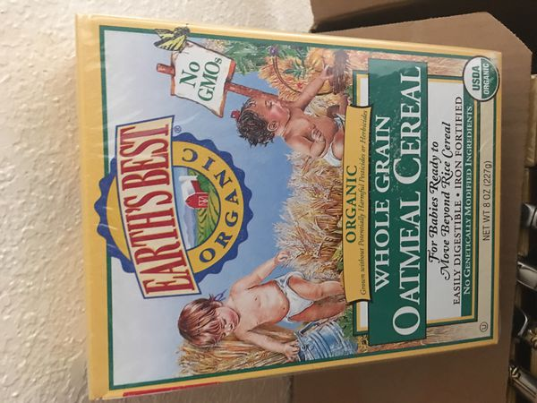 Organic oatmeal baby cereal