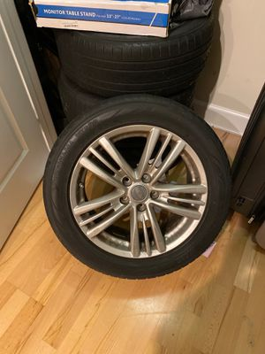 OEM Infiniti G37 rims and Yokohama tires with decent tread (missing bolts) for Sale in Charlotte, NC