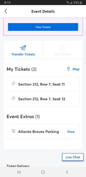 2 Atlanta Braves Tickets for 6/1 for Sale in St. Louis, MO