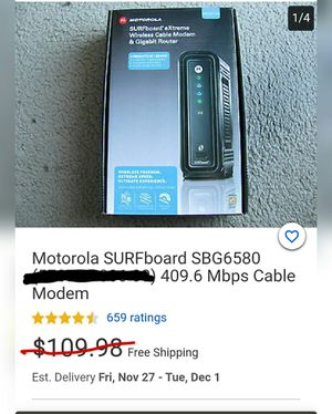 Motorola eXtreme 3in1 Cable Modem/WiFi/Router for Sale in Spokane, WA