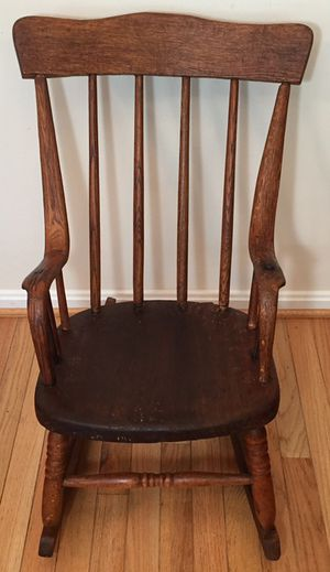Antique 1895 Mahogany Child's Rocking Chair for Sale in Crofton, MD