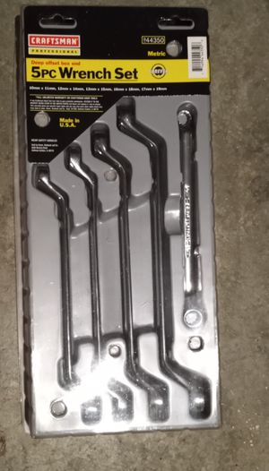 Craftsman 5 piece wrench set derp offset box end for Sale in Monroe, WA