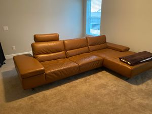 Genuine Leather Couch Italien Style for Sale in St. Cloud, FL