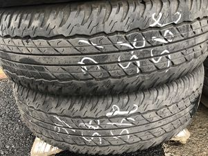 4 used tires Dunlop 245/75/16 for Sale in Portland, OR