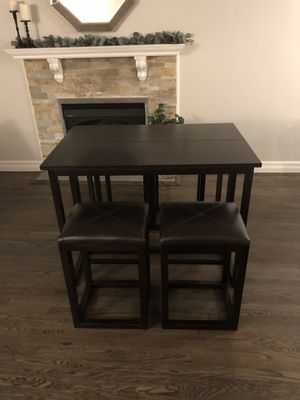Macy's Folding Breakfast Table w/ 4 leather Chairs for Sale in Westwood, NJ