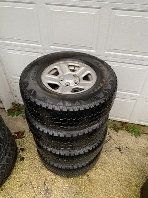 Stock Jeep jk wheels and tires for Sale in Monroe, WA