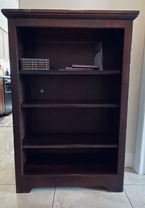 Wooden bookcase or bookshelves tobacco brown 30 inches wide 47 inches tall. for Sale in Lake Worth, FL