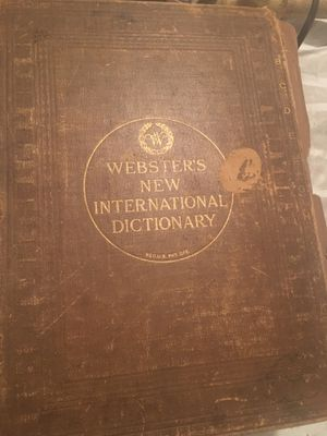 Webster's new international dictionary for Sale in Chicago, IL