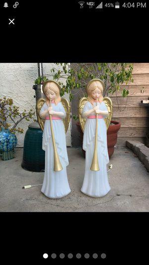 Vtg TPI Angel Trumpet Choir Nativity Christmas Blow Molds Set for Sale in Huntington Beach, CA