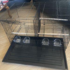 Brand New Bird Cage With Division/ Juala Nueva Para Pájaros Con División ( 30x18x18) for Sale in Downey, CA