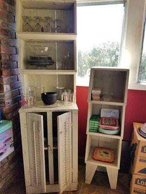 Farmhouse hutch and shelf set for Sale in College Grove, TN