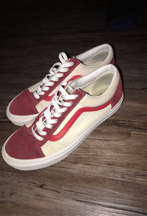 Red and White Vans for Sale in Fresno, CA
