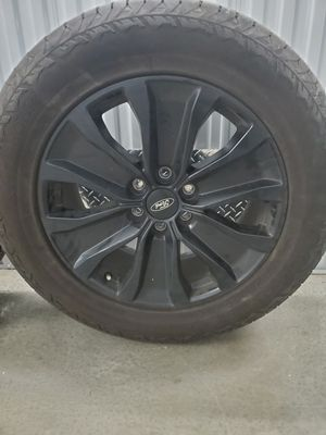 """Ford 20"""" Blackout Rims with Stock Hankook tires, like new! for Sale in Charlotte, NC"""