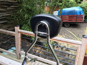 Back rest (sissy bar) off of a Kawasaki road king will fit on most bikes. New- Excellent condition for Sale in Bremerton, WA